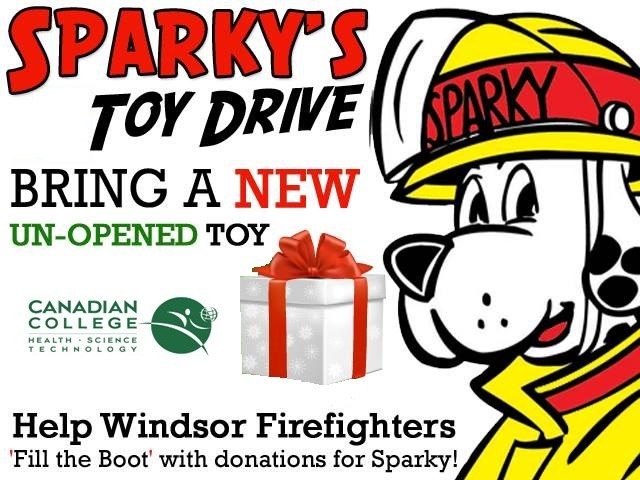 Sparky Toy Drive Canadian College Windsor 2013